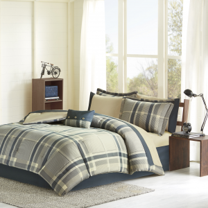 Home Essence Apartment Rick 8-Piece Bed in a Bag Comforter Bedding Set with Bonus Pillow, Twin
